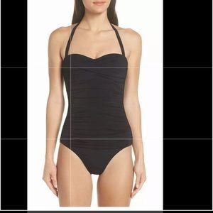 Heidi Klein Ruched Bandeau One-piece Swimsuit